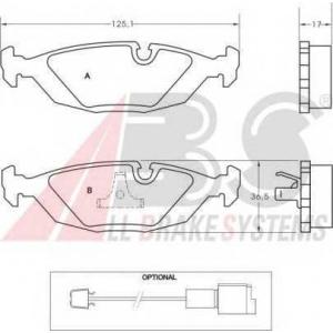 A.B.S. 36489 Комплект тормозных колодок, дисковый тормоз Бмв 6
