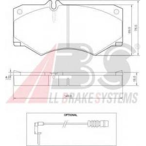 A.B.S. 36490 Комплект тормозных колодок, дисковый тормоз Мерседес