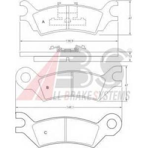A.B.S. 36502 Комплект тормозных колодок, дисковый тормоз Мазда 929