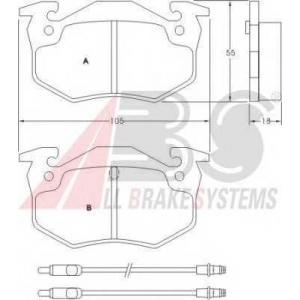 ABS 36503 Гальмiвнi колодки дисковi
