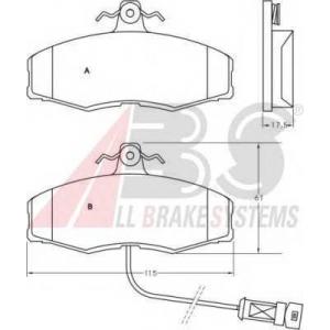 ABS 36507 Гальмiвнi колодки дисковi