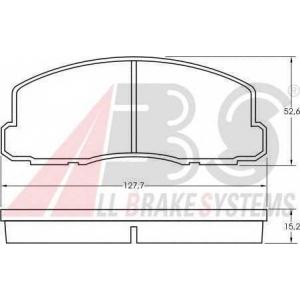 A.B.S. 36508 Комплект тормозных колодок, дисковый тормоз Митсубиси Кольт