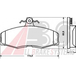 A.B.S. 36516 Колодка торм. SKODA/VW FAVORIT/FELICIA/CADDY передн. (пр-во ABS)