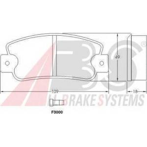 A.B.S. 36518 Комплект тормозных колодок, дисковый тормоз Фиат Ритмо