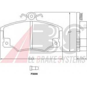 A.B.S. 36521 Комплект тормозных колодок, дисковый тормоз Фиат Барчетта