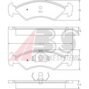 A.B.S. 36534 Комплект тормозных колодок, дисковый тормоз Форд Фиеста