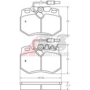 ABS 36547 Комплект тормозных колодок, дисковый тормоз