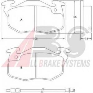 A.B.S. 36565 Комплект тормозных колодок, дисковый тормоз Рено Рапид