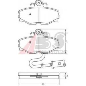 A.B.S. 36569 Комплект тормозных колодок, дисковый тормоз Ягуар