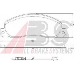 A.B.S. 36570 Комплект тормозных колодок, дисковый тормоз Рено Трафик
