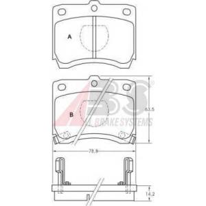 A.B.S. 36574 Комплект тормозных колодок, дисковый тормоз Мазда 121