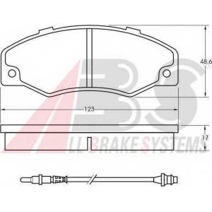 A.B.S. 36577 Комплект тормозных колодок, дисковый тормоз Рено 21