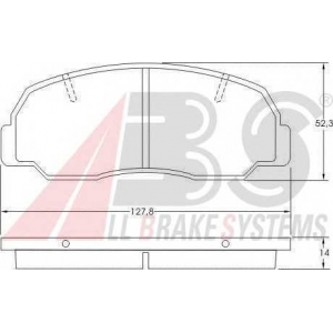 A.B.S. 36588 Комплект тормозных колодок, дисковый тормоз Дайхатсу