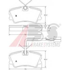 ABS 36592 Комплект тормозных колодок, дисковый тормоз