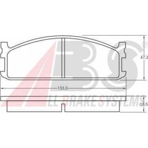 A.B.S. 36593 Комплект тормозных колодок, дисковый тормоз Исузу Миди