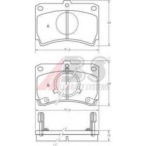 A.B.S. 36594 Комплект тормозных колодок, дисковый тормоз Крайслер Вояджер