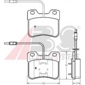 A.B.S. 36598 Комплект тормозных колодок, дисковый тормоз Ситроен Ах