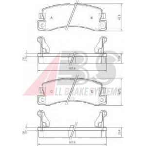 ABS 36604 Гальмiвнi колодки дисковi