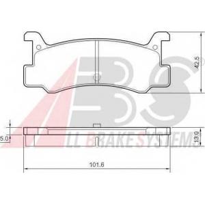 A.B.S. 36607 Комплект тормозных колодок, дисковый тормоз Дайхатсу