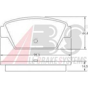 A.B.S. 36609 Комплект тормозных колодок, дисковый тормоз Митсубиси Галант