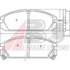 A.B.S. 36615 Комплект тормозных колодок, дисковый тормоз Хонда Акорд