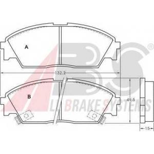 A.B.S. 36616 Комплект тормозных колодок, дисковый тормоз Хонда Црх