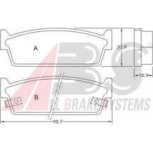 A.B.S. 36617 Комплект тормозных колодок, дисковый тормоз Инфинити М-30