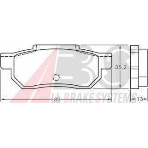 A.B.S. 36619 Комплект тормозных колодок, дисковый тормоз Хонда Акорд