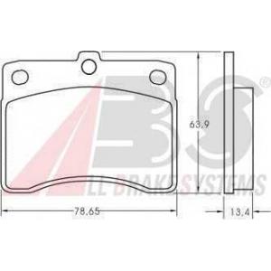A.B.S. 36621 Комплект тормозных колодок, дисковый тормоз Дайхатсу