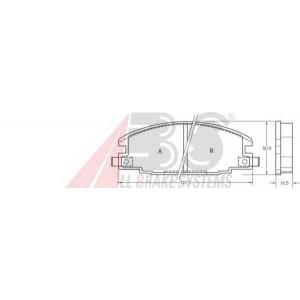 A.B.S. 36632 Комплект тормозных колодок, дисковый тормоз Опель Фронтера