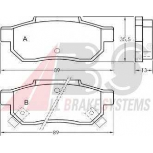 A.B.S. 36636 Комплект тормозных колодок, дисковый тормоз Хонда Црх