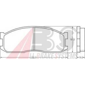 A.B.S. 36642 Комплект тормозных колодок, дисковый тормоз Киа Беста