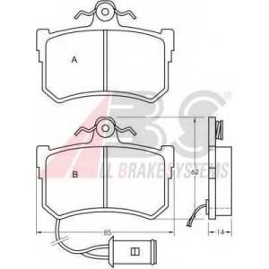 A.B.S. 36645 Комплект тормозных колодок, дисковый тормоз Хюндай Соната