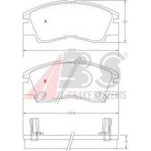 A.B.S. 36648 Комплект тормозных колодок, дисковый тормоз Митсубиси Л 200