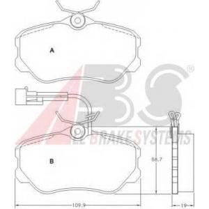 A.B.S. 36655 Комплект тормозных колодок, дисковый тормоз Лансия