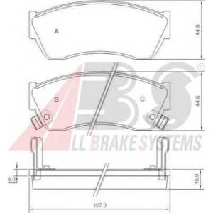 ABS 36656 Комплект тормозных колодок, дисковый тормоз