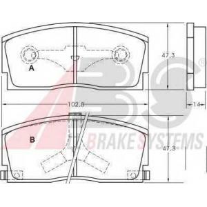 A.B.S. 36658 Комплект тормозных колодок, дисковый тормоз Дайхатсу