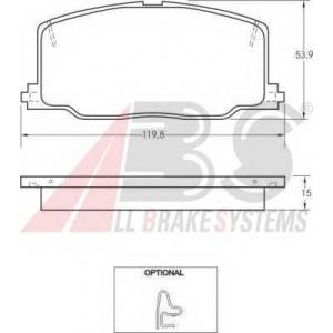 A.B.S. 36659 Комплект тормозных колодок, дисковый тормоз Лексус Ес