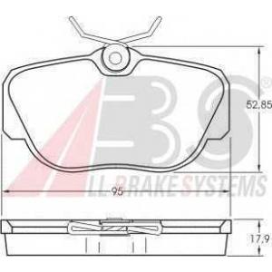 A.B.S. 36660 Колодка торм. MB 190 передн. (пр-во ABS)