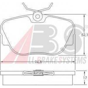 A.B.S. 36664 Комплект тормозных колодок, дисковый тормоз Бмв З1