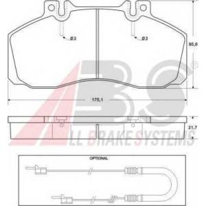 A.B.S. 36665 Колодка торм. MB 507/609/709/814 передн./задн. (пр-во ABS)