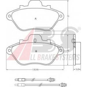 A.B.S. 36670 Комплект тормозных колодок, дисковый тормоз Ситроен Хм