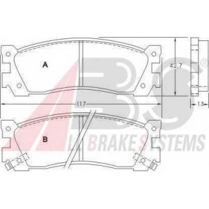 A.B.S. 36676 Комплект тормозных колодок, дисковый тормоз Мазда Кседос 9