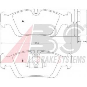 A.B.S. 36678 Комплект тормозных колодок, дисковый тормоз Бмв З3