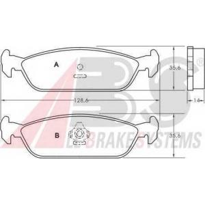 A.B.S. 36684 Комплект тормозных колодок, дисковый тормоз Дайхатсу