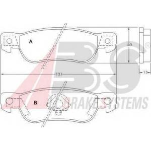 A.B.S. 36686 Комплект тормозных колодок, дисковый тормоз Исузу Трупер