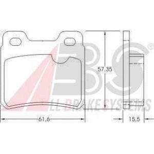 A.B.S. 36694 Комплект тормозных колодок, дисковый тормоз Опель Калибра