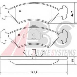 A.B.S. 36707 Комплект тормозных колодок, дисковый тормоз Форд Фиеста