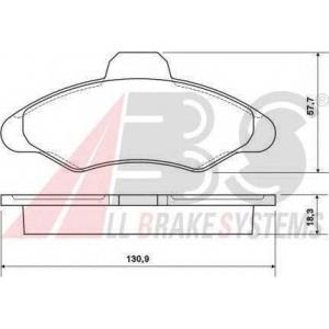 A.B.S. 36709 Комплект тормозных колодок, дисковый тормоз Форд Орион