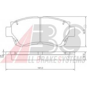 A.B.S. 36713 Комплект тормозных колодок, дисковый тормоз Лексус Ес